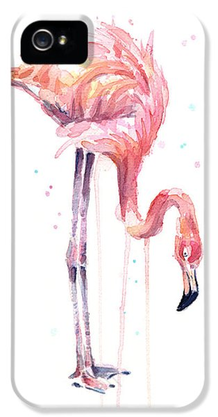 Flamingo Painting Watercolor IPhone 5 Case