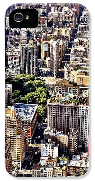 Architecture iPhone 5 Case - Flatiron Building From Above - New York City by Vivienne Gucwa