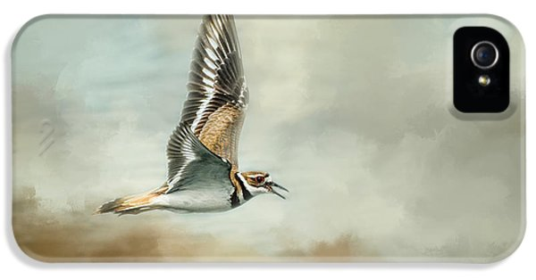 Flight Of The Killdeer IPhone 5 Case by Jai Johnson