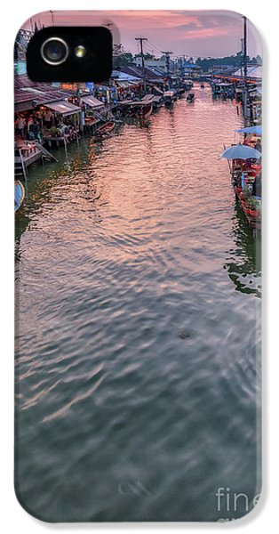 Floating Market Sunset IPhone 5 Case by Adrian Evans