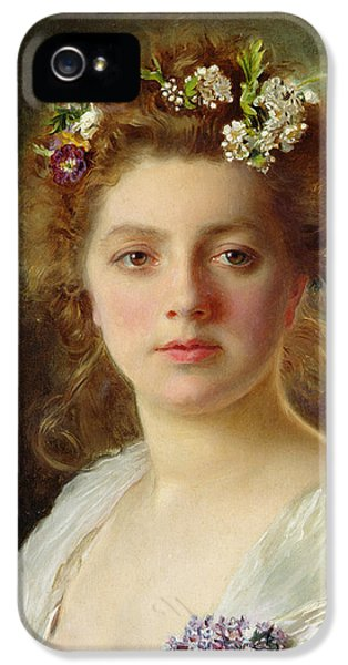 Flora IPhone 5 Case by Gustave Jacquet