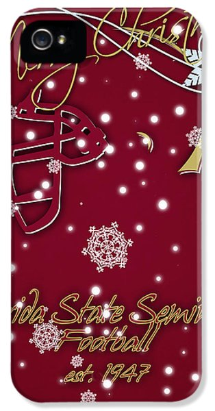 Florida State Seminoles Christmas Card IPhone 5 Case by Joe Hamilton