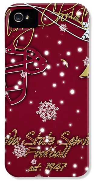 Florida State Seminoles Christmas Card IPhone 5 / 5s Case by Joe Hamilton