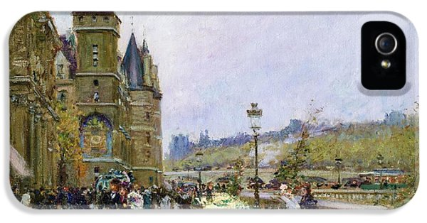 Flower Sellers By The Seine IPhone 5 Case by Georges Stein