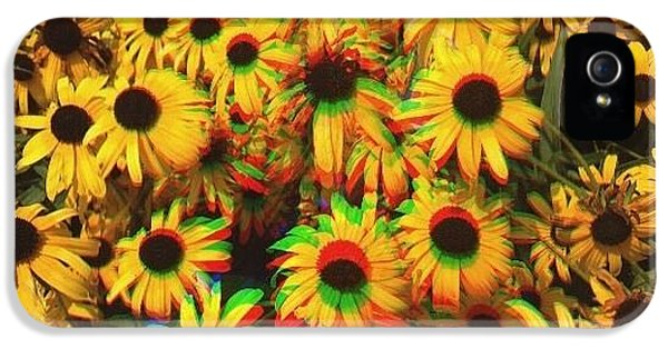 Edit iPhone 5 Case - Flower Trip by Annie Walczyk