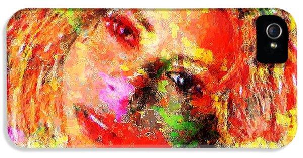 Flowery Shakira IPhone 5 Case by Navo Art