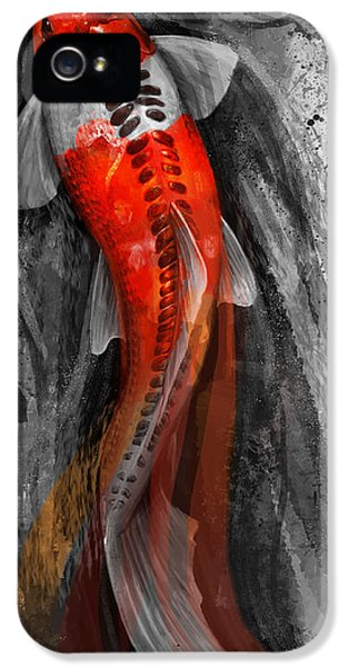 Koi iPhone 5 Case - Flowing Koi by Steve Goad