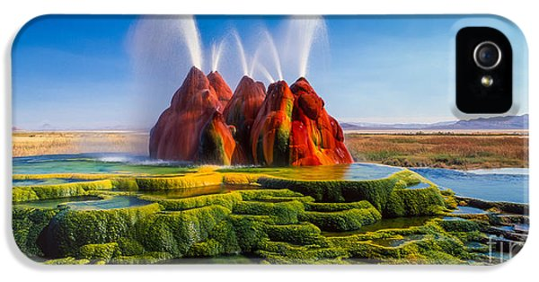 Fly Geyser Panorama IPhone 5 Case by Inge Johnsson
