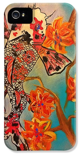 Focus Flower  IPhone 5 Case by Miriam Moran