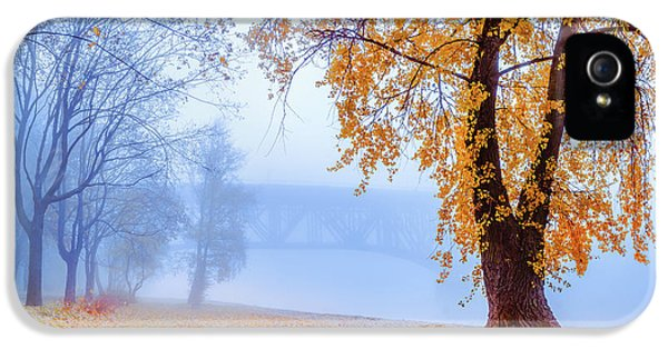 Foggy Autumn Morning On Vistula IPhone 5 Case by Dmytro Korol