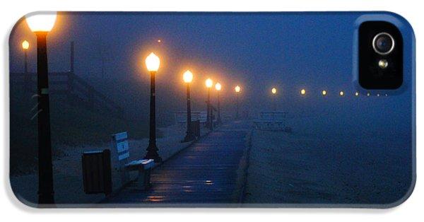 Foggy Boardwalk Blues IPhone 5 Case by Bill Pevlor