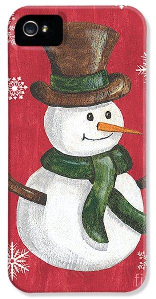 Folk Snowman IPhone 5 Case by Debbie DeWitt