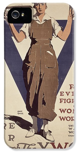 For Every Fighter A Woman Worker IPhone 5 Case by Adolph Treidler