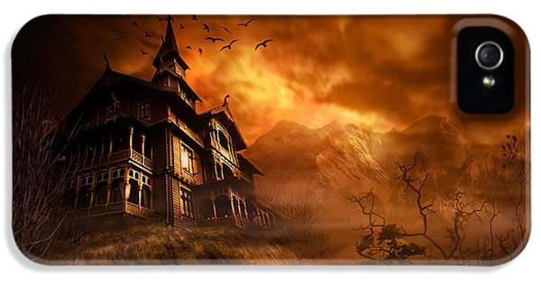 Spooky iPhone 5 Cases - Forbidden Mansion iPhone 5 Case by Svetlana Sewell