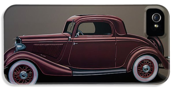 Ford 3 Window Coupe 1933 Painting IPhone 5 Case by Paul Meijering
