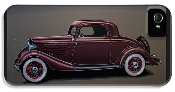 Ford 3 Window Coupe 1933 Painting IPhone 5 Case