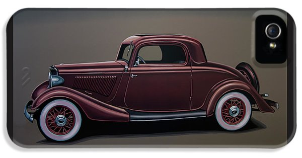 Falcon iPhone 5 Case - Ford 3 Window Coupe 1933 Painting by Paul Meijering