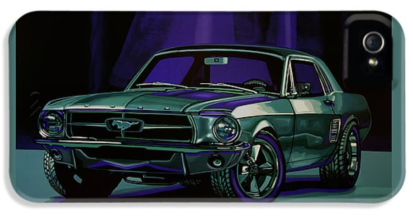 Car iPhone 5 Case - Ford Mustang 1967 Painting by Paul Meijering