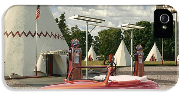 Ford Roadster At An Indian Gas Station 2 IPhone 5 Case by Mike McGlothlen