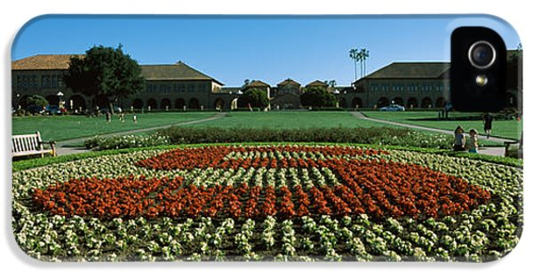 Formal Garden At The University Campus IPhone 5 Case by Panoramic Images