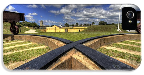 Fort Moultrie Cannon Tracks IPhone 5 Case by Dustin K Ryan