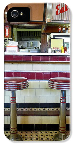 Eatery iPhone 5 Cases - Four Aces Diner iPhone 5 Case by Edward Fielding