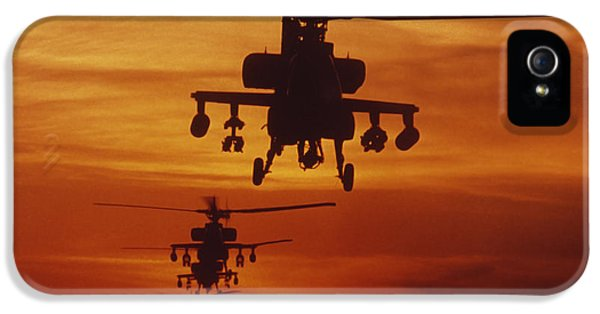 Helicopter iPhone 5 Case - Four Ah-64 Apache Anti-armor by Stocktrek Images