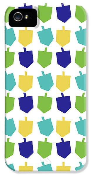 Four Dreidels Pattern- Art By Linda Woods IPhone 5 Case