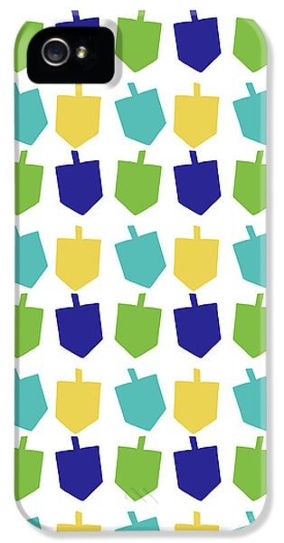 Four Dreidels Pattern- Art By Linda Woods IPhone 5 Case by Linda Woods
