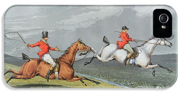 Fox Hunting - Full Cry IPhone 5 Case by Charles Bentley