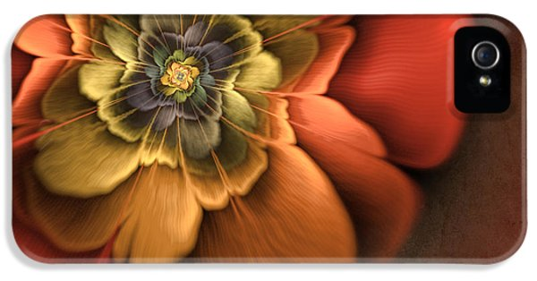 Creativity iPhone 5 Cases - Fractal Pansy iPhone 5 Case by John Edwards