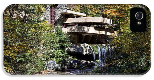 Frank Lloyd Wrights Fallingwater IPhone 5 Case by Brendan Reals