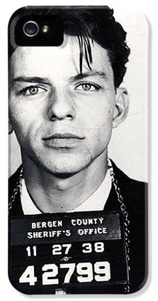 Frank Sinatra Mug Shot Vertical IPhone 5 Case by Tony Rubino