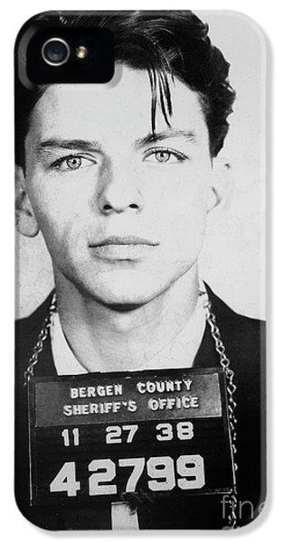 Frank Sinatra Mugshot IPhone 5 Case by Jon Neidert