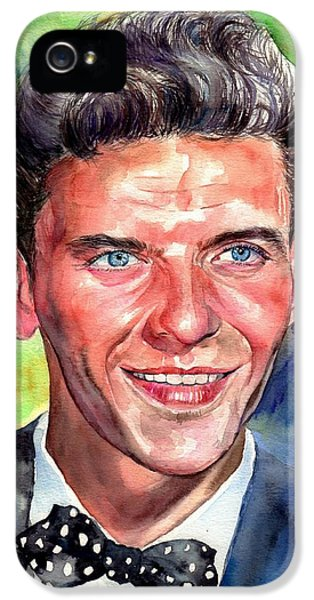 Frank Sinatra iPhone 5 Case - Frank Sinatra Young Watercolor by Suzann's Art