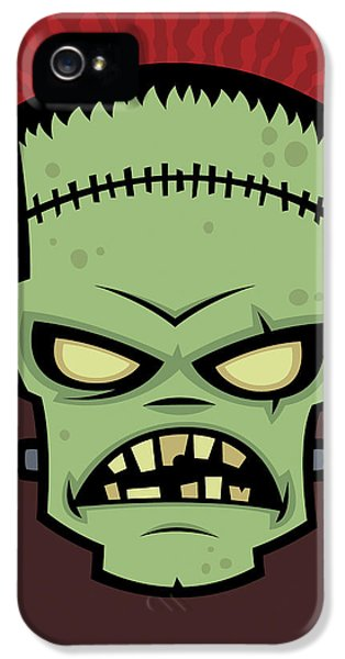 Frankenstein Monster IPhone 5 Case by John Schwegel