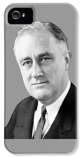 Franklin Delano Roosevelt IPhone 5 Case by War Is Hell Store