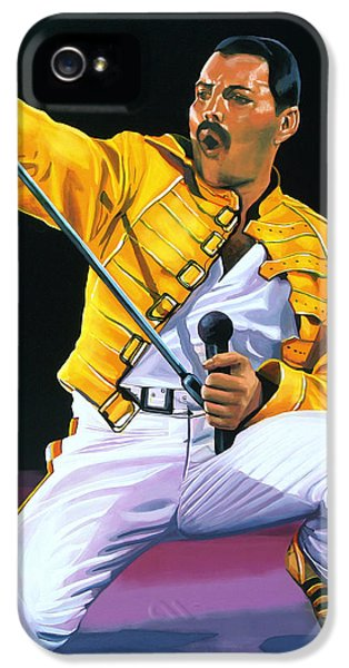 Freddie Mercury Live IPhone 5 Case by Paul Meijering
