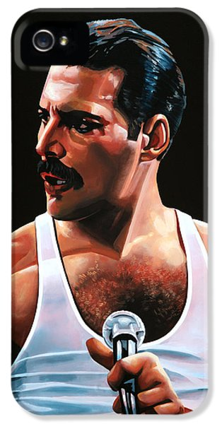 Freddie Mercury IPhone 5 Case by Paul Meijering