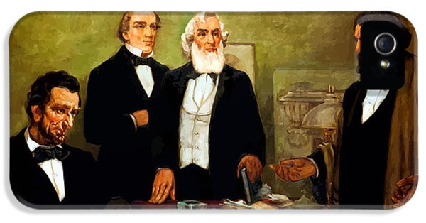 Frederick Douglass Appealing To President Lincoln IPhone 5 Case by War Is Hell Store