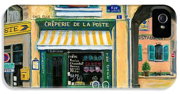 Street Scene iPhone 5 Cases - French Creperie iPhone 5 Case by Marilyn Dunlap