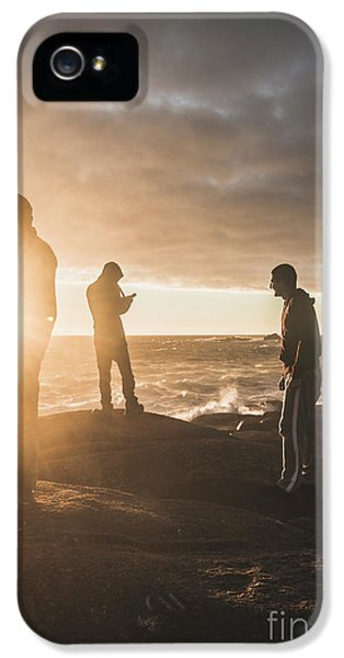 IPhone 5 Case featuring the photograph Friends On Sunset by Jorgo Photography - Wall Art Gallery