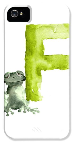 Frog Watercolor Alphabet Painting IPhone 5 Case by Joanna Szmerdt