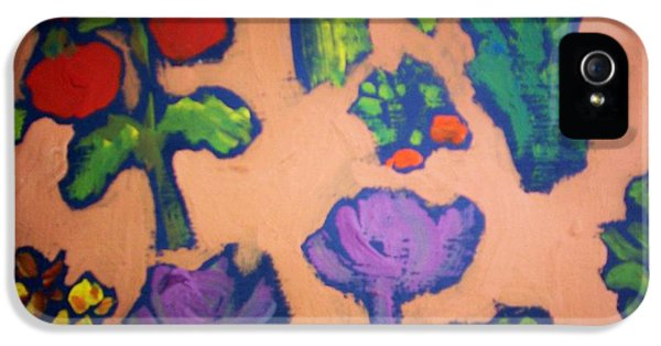 IPhone 5 Case featuring the painting From The Earth by Winsome Gunning