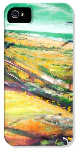 IPhone 5 Case featuring the painting From The Lawn Pandanus by Winsome Gunning