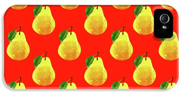 Fruit 03_pear_pattern IPhone 5 Case by Bobbi Freelance