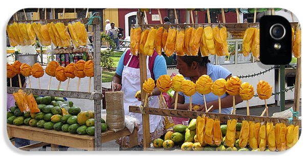 Fruit Stand Antigua  Guatemala IPhone 5 Case by Kurt Van Wagner