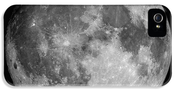 White iPhone 5 Case - Full Moon by Roth Ritter