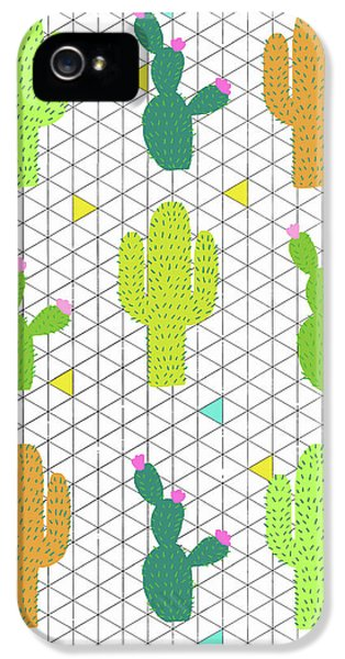Funky Cactus IPhone 5 Case by Nicole Wilson