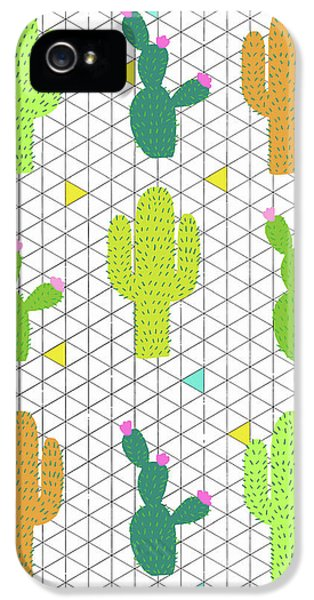 Funky Cactus IPhone 5 / 5s Case by Nicole Wilson
